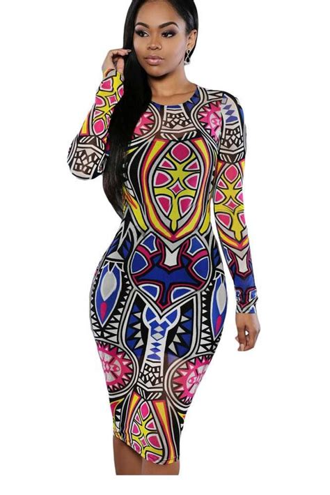 Tribal Inspired Clothes by Dearlove Bodycon Dress 2017 Fashion Sring Autumn Style One