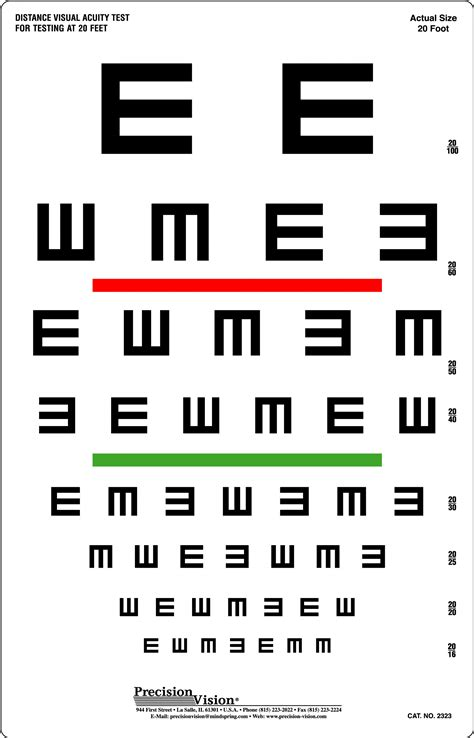 color acuity test tumbling quot e quot visual acuity color vision screening
