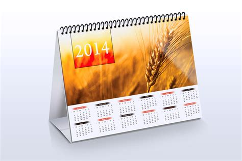 Desk Calendar Mock Up Product Mockups On Creative Market Mock Schedule Template