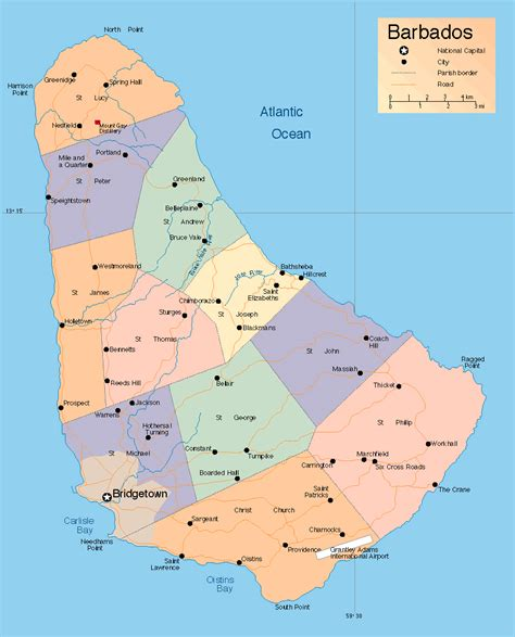political map of barbados maps of barbados map library maps of the world
