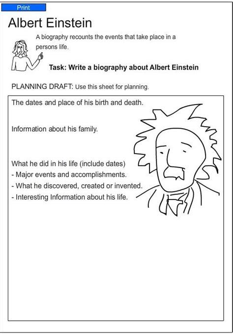 biography of albert einstein in english short albert einstein english skills online interactive