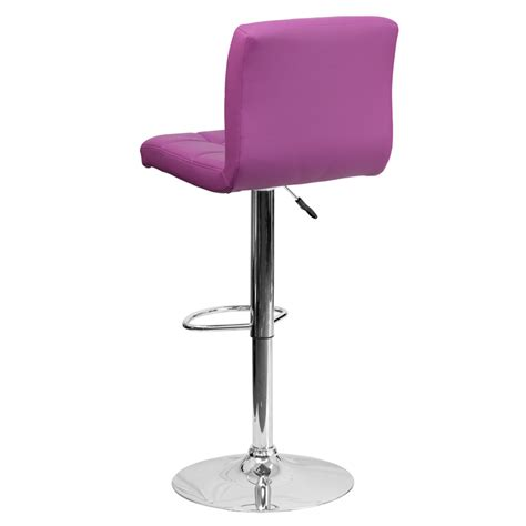 Purple Bar Stools by Purple Quilted Vinyl Adjustable Height