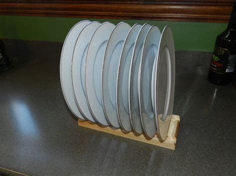 Vertical Dish Rack by Wood Plate Rack For Vertical Plate Storage