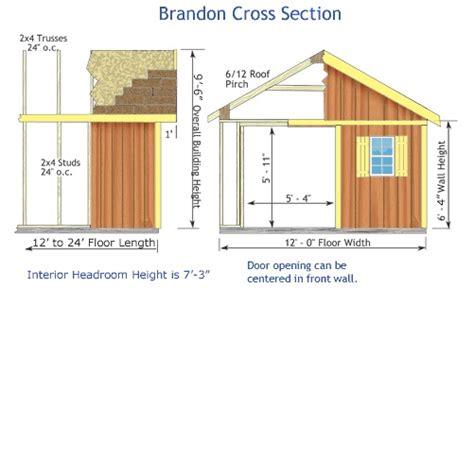 Brandon Sheds by Brandon 12x24 Best Barns Wood Shed Barn Kit