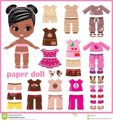 How To Make Doll Clothes With Paper - paper doll with clothes set stock photo image 31903430