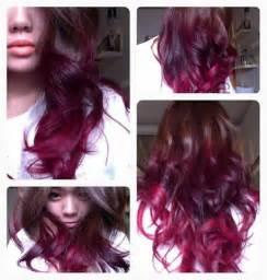 how to add colour chunks to hairstyles czy czerwone ombre ładnie wygląda na brązowych włosach