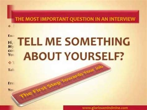 Tell Me About Yourself For Mba Freshers by How To Answer Tell Me Something About Yourself Best