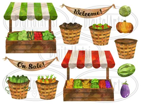 watercolor fruits clipart by digitalartsi thehungryjpegcom watercolor farmer s market clipart by digitalartsi