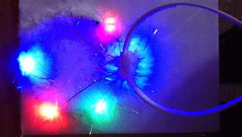 White Glow By Maymay Store headband luminous led white halo plush glow
