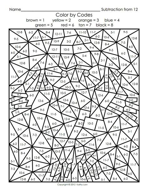 coloring pages by numbers pdf color by number for adults pinterest color by number