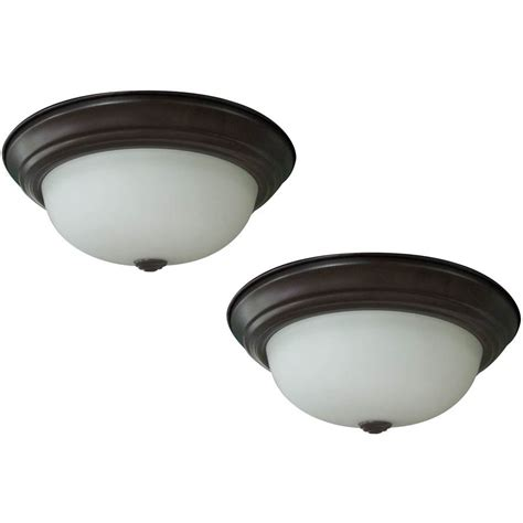 shop project source 13 in w brushed nickel led ceiling flush mount light at lowes shop project source 2 pack 13 in w bronze led flush mount light energy at lowes