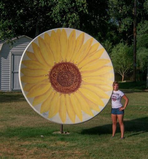 backyard satellite dish 17 best images about satellite dish upcycle on pinterest