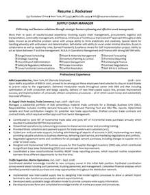 Supply Chain Trainee Sle Resume by Supply Chain Resume