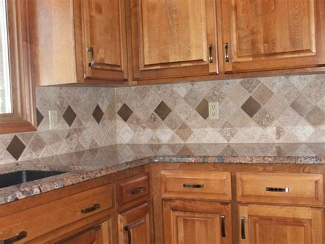 Kitchen Backsplash Tile Patterns by Tile Backsplashes Arranging Tiles In A Diamond Patter