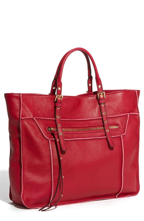 steven by steve madden leather tote in raspberry lyst