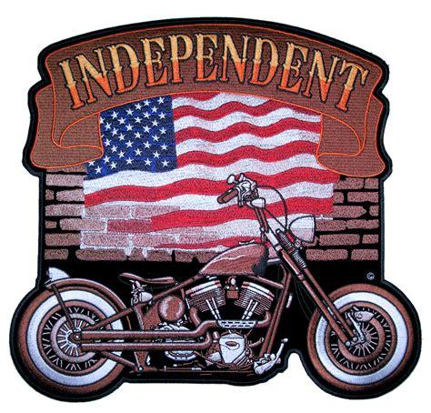 american biker patriotic independent american flag motorcycle biker patch