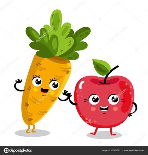 imagenes animadas de frutas y verduras frutas divertidas y personajes de dibujos animados de