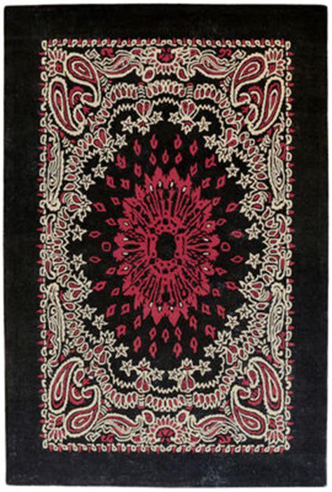 bandana rug bandana rug 170 x 240 cm black by toulemonde bochart