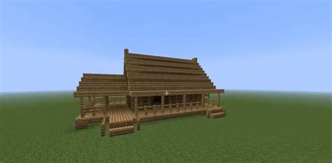 How to build a fast wooden house ? Minecraft House Design