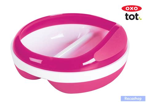 Baby Feeding Spoon Dispenser Rocket Pink With Lid oxo tot divided feeding dish with removable ring pink