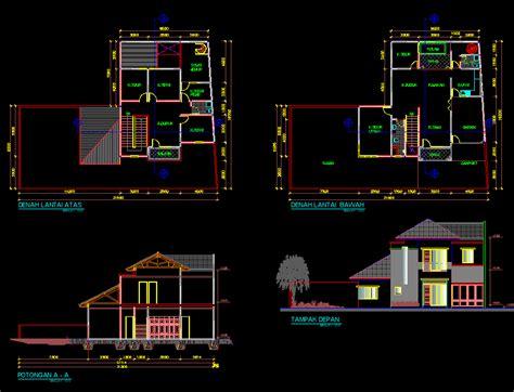 desain rumah minimalis  lantai autocad gambar foto
