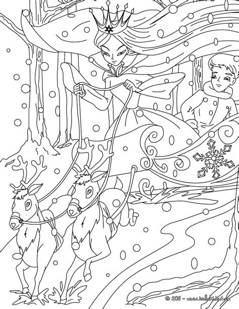 the snow tale coloring pages hellokids