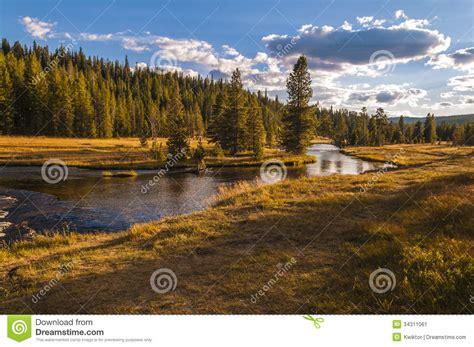 yellowstone landscape stock image image 34311061