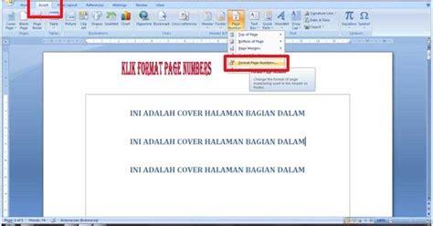 cara membuat nomor halaman pada microsoft office word 2007 cara membuat nomor halaman berbeda di microsoft word
