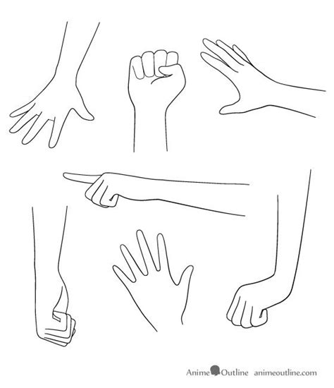anime hand how to draw anime hands google search craft pinterest