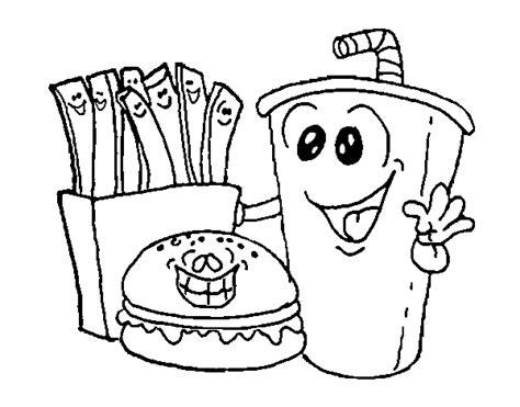 dibujos de comida chatarra para colorear imagui decomida para colorear imagui