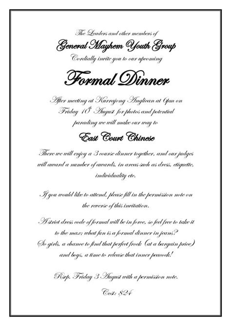 Formal Invitation by 25 Best Ideas About Formal Invitations On