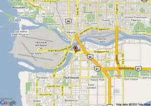 richmond canada map map of comfort inn airport richmond richmond