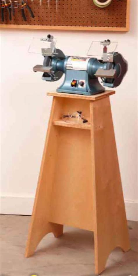 grinder grand stand woodworking plan woodworkersworkshop
