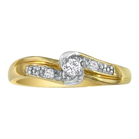 1 10ct promise ring with thick band in 10k yellow