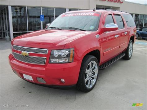 chevrolet suburban red 2008 victory red chevrolet suburban 1500 lt 26505511