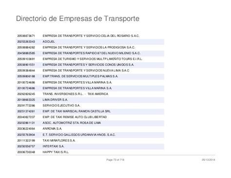 directorio de empresas directorio de empresas de transporte