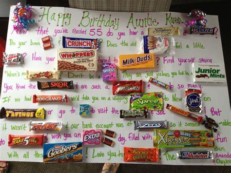 Birthday Cards Made With Chocolate Bars Candy Bar Birthday Card Candy Bar Bday Card