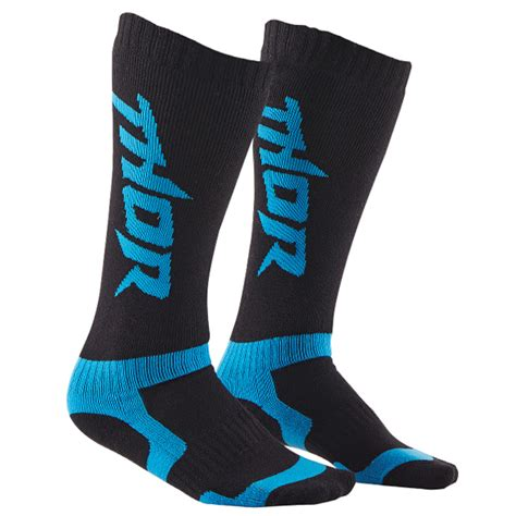thor motocross boots thor mx boot socks black blue dirtbikexpress
