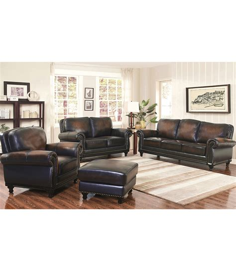 living room leather sets living room sets venezia 4 piece leather set