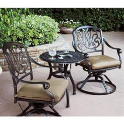 bistro patio furniture patio furniture bistro set cast aluminum swivel rocker 3pc