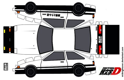 D D Papercraft - toyota ae86 trueno papercraft fujiwara tofu by
