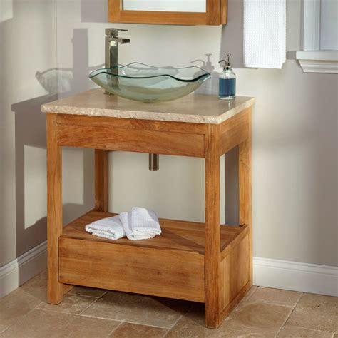 30 quot rhea teak vessel sink vanity modern bathroom vanities