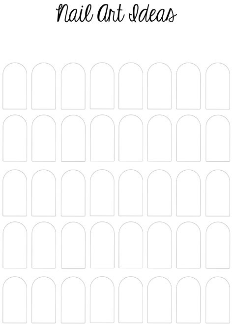 nail templates i made a printable nail template sketch pad