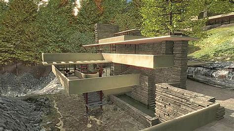 frank lloyd wright s masterpiece fallingwater fallingwater an architectural masterpiece animated in 3d
