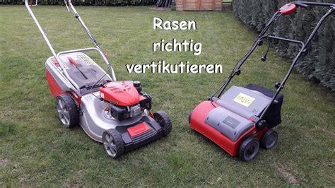 Rasen Vertikutieren Wann by Diy Rasen Richtig Vertikutieren