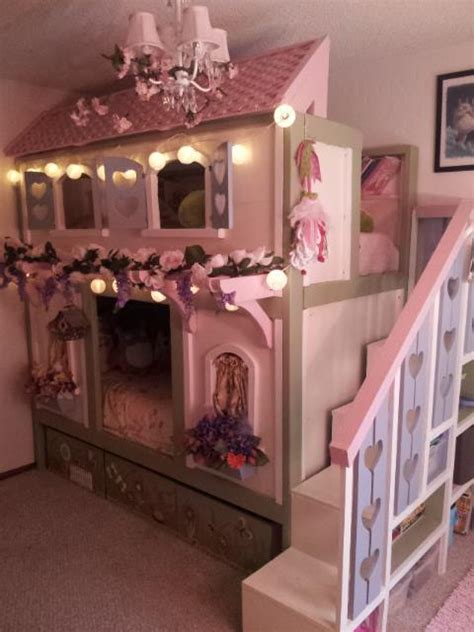 Sweet Bunk Beds White Sweet Pea Bunk Beds Diy Projects