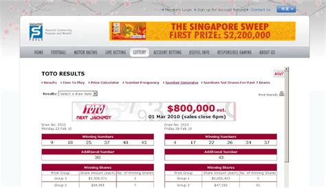 Sweepstake Result Singapore - singapore pools 4d toto latest results share the knownledge