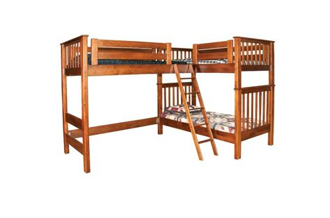 L Shaped Loft Jake S Amish Furniture Lb7482 L Shaped L Shape Bunk Bed