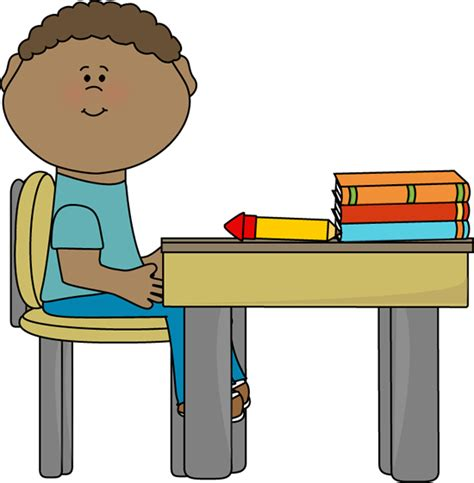 student at desk student sitting at desk clipart cliparts co