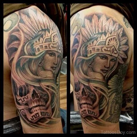 aztec warrior skull tattoo designs aztec tattoos designs pictures page 6